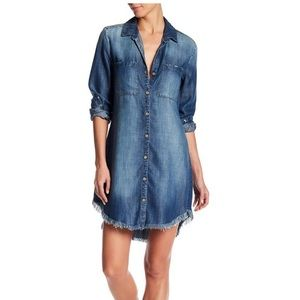 Anthro Long Sleeve Denim Shirt Dress